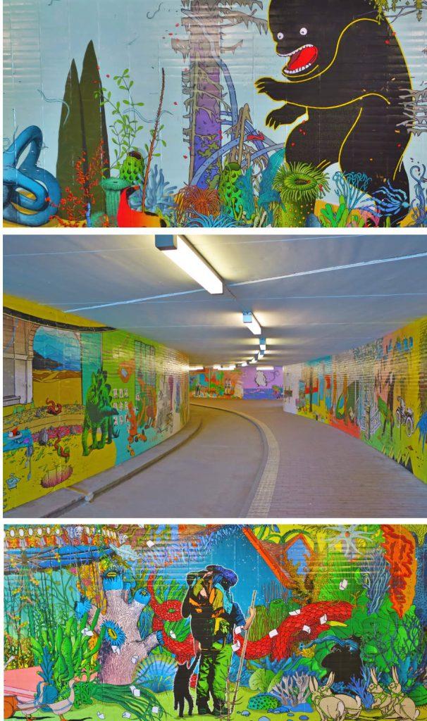 Impressionen aus dem Kunsttunnel - Fotos: Johann Büsen