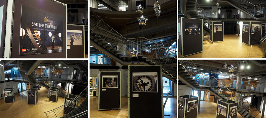 """Die Ausstellung """"Space Girls Space Women"""" ist eine passende Einstimmung zum Bremer Raumfahrtjahr """"Sternstunden 2018""""."""