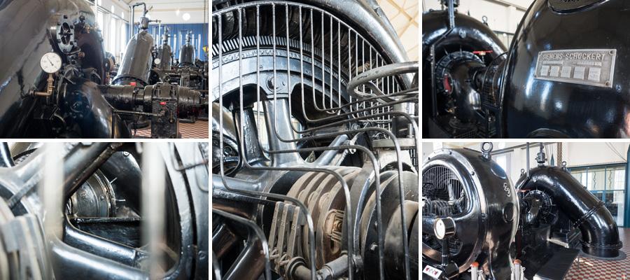 Ziemlich beeindruckend sind die Pumpen in der alten Halle. Sie beförderten 80 Jahre lang das Abwasser in Richtung Weser bzw. zum Klärwerk Seehausen.