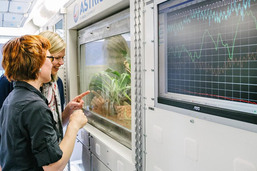 Pflanzen im Weltraum: Wichtige Nährstoffe sind gerade für lange Missionen unersetzlich. Auf der ISS wird getestet, was überhaupt im All wächst.