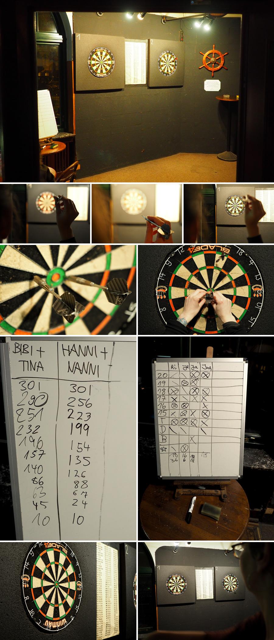 Verschiedene Spielvarianten beim Dart üben das Zielen. Es macht aber auch schon Spaß, einfach drauf los zu darten :)