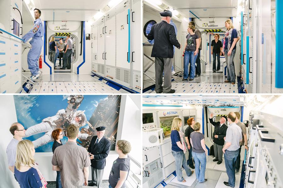 Eng und trotzdem so viele Möglichkeiten: In den Modulen der ISS wird geforscht und gelebt auf engstem Raum.