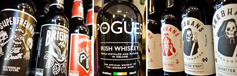 "Gevatter Stout meets Superfreunde meets ""The Pogues"" Whiskey"