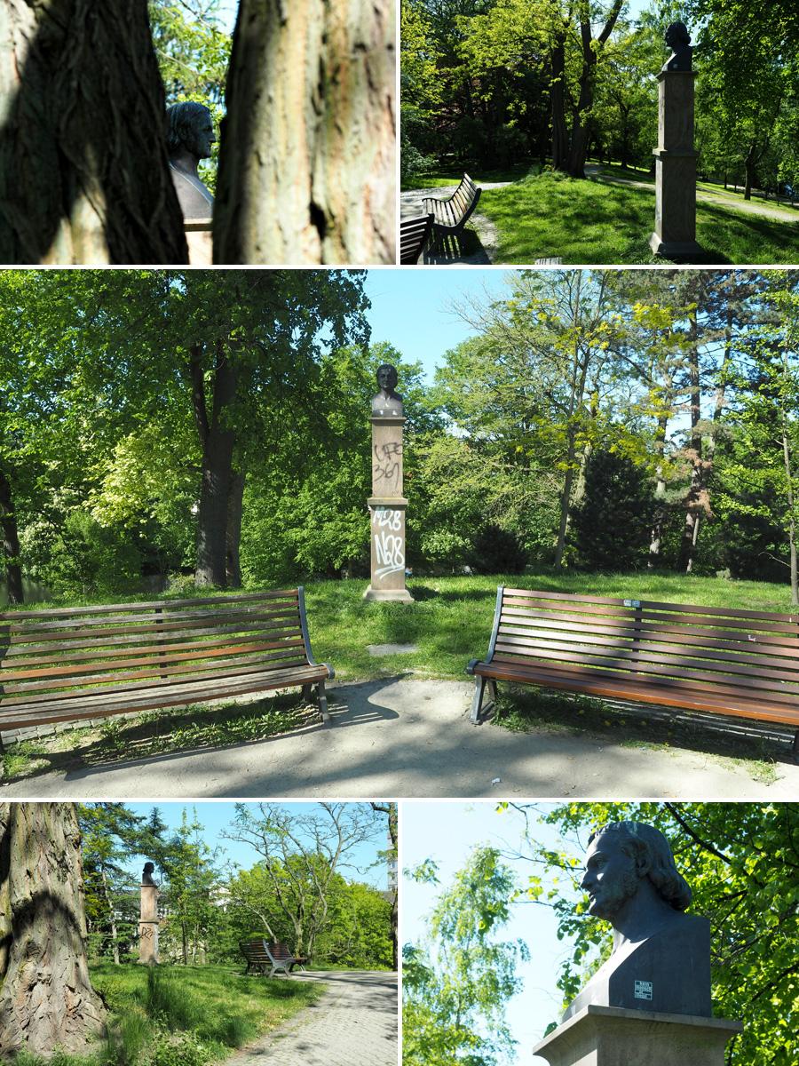 An exponierter Stelle: Das Denkmal für Isaak Altmann, der nur vier Jahre nach Fertigstellung der Wallanlagen starb, hat eine ebenso besondere Geschichte wie sein Standort besonders ist.