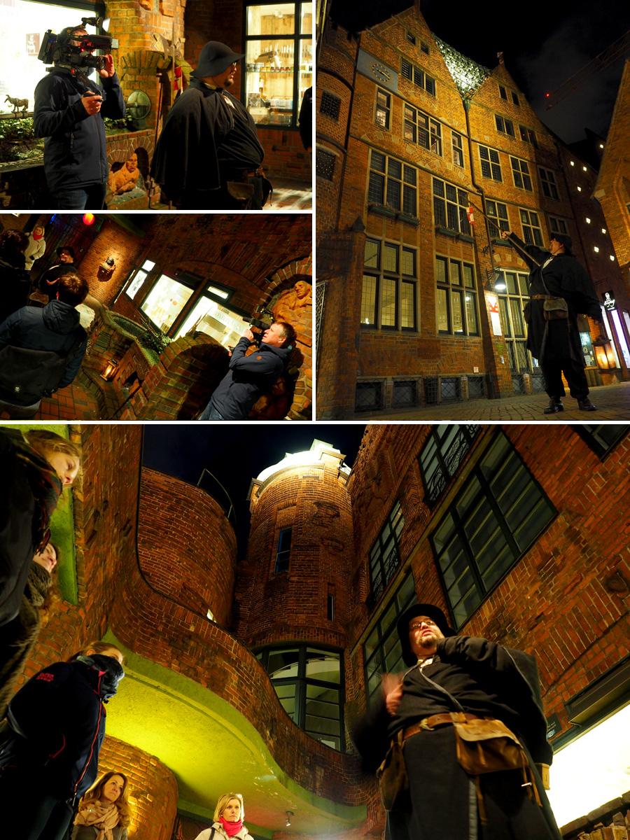 Kamera läuft: Die Böttcherstraße bot nicht nur eine Grundlage für viele Geschichten von Marcus, sondern auch eine wunderschöne Kulisse für die Filmbilder.