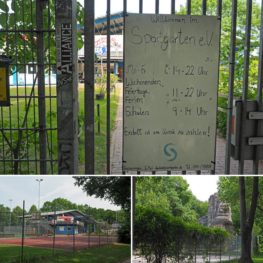 Das Sportparadies schlechthin: Der Sportgarten mit seinem riesigen Angebot.