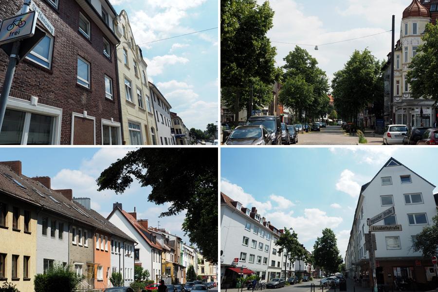 Typische Bremer Straßenzüge: In Walle ist viel zerstört, aber zum Glück auch viel wieder aufgebaut worden nach dem Krieg.