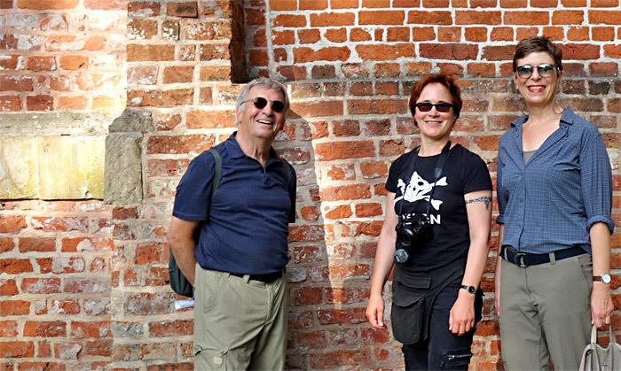 """Die """"offizielle"""" Wandertruppe: Christof Steuer, Ingrid Krause und Elvira Krol"""
