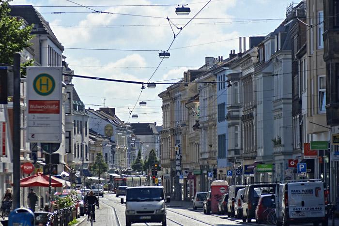Der Ostertorsteinweg mit Läden und Leben und Leckereien