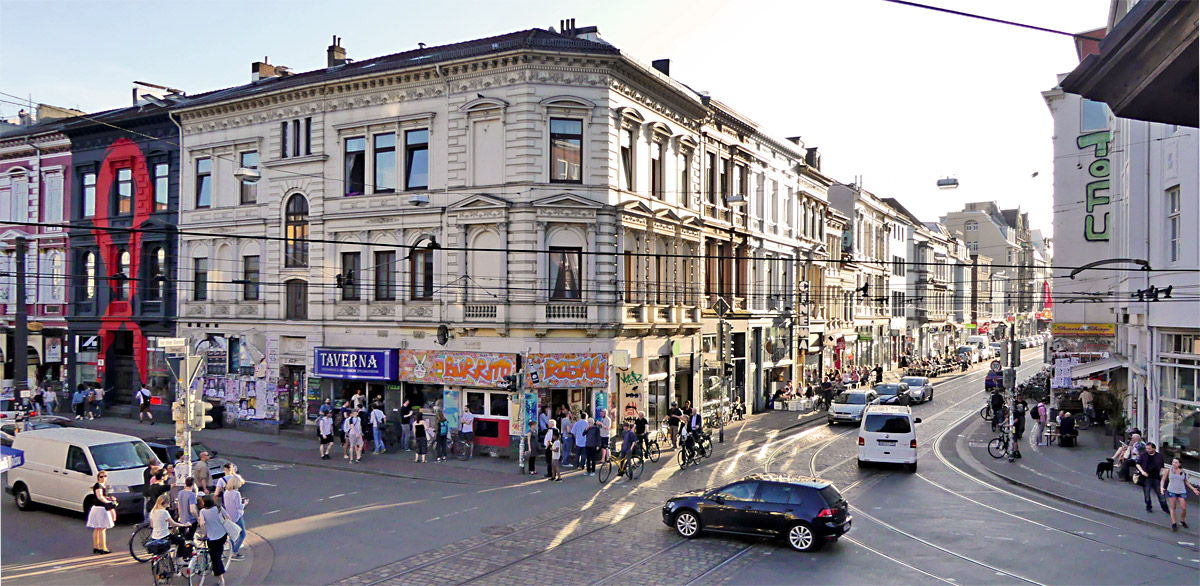 Das Zentrum des Bremer Viertels, das Sielwall-Eck