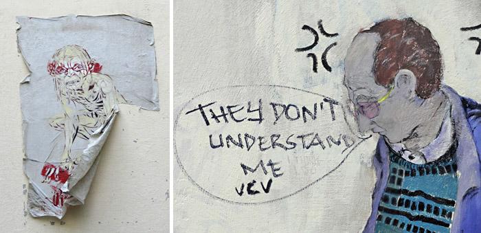 Traurige Streetart