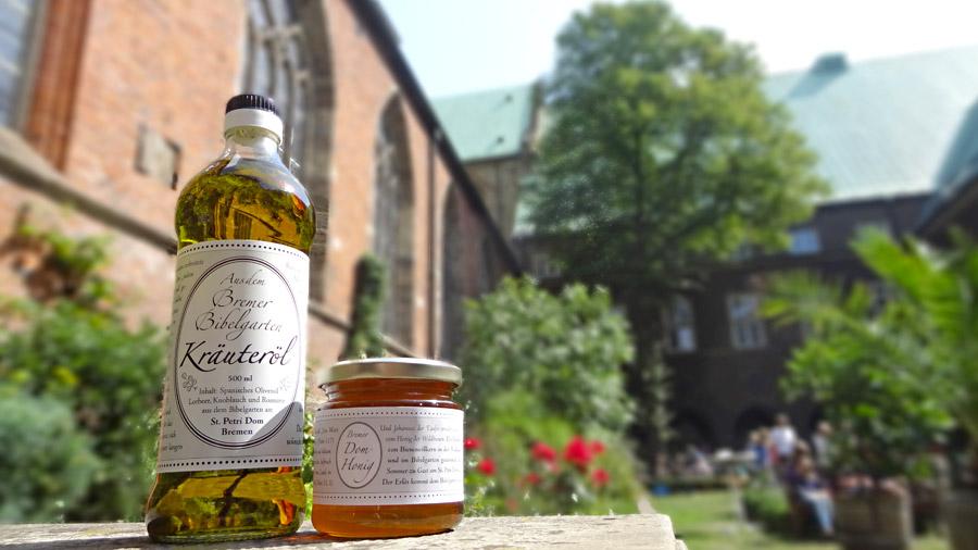 Bibelgarten-Kräuteröl und Dom-Honig