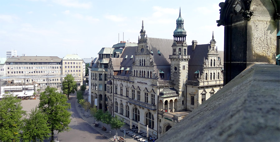 Blick vom Balkon auf den Domshof