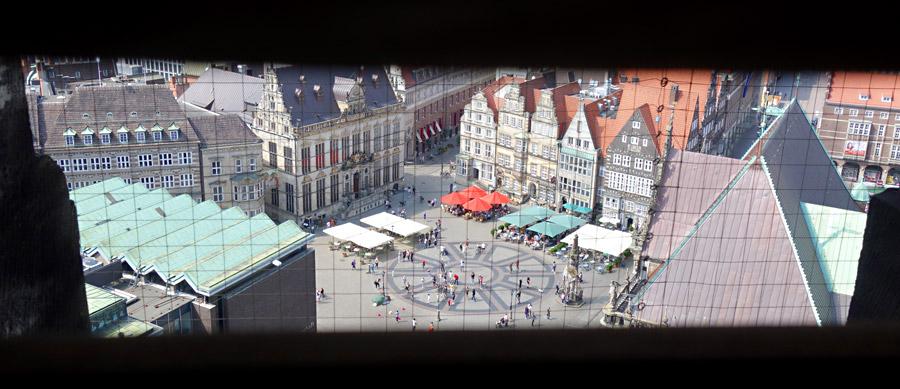 Marktplatz-Blick aus dem Glockenturm