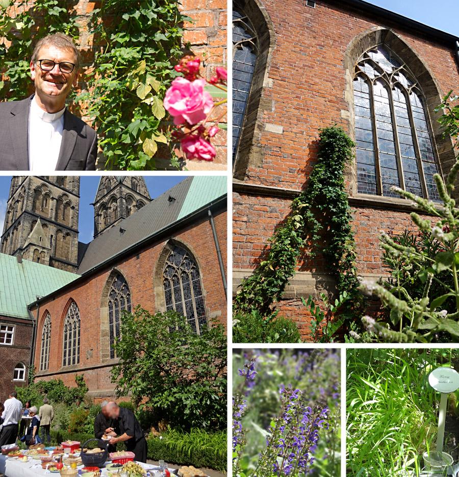 Mit Pastor Henner Flügger im Bibelgarten