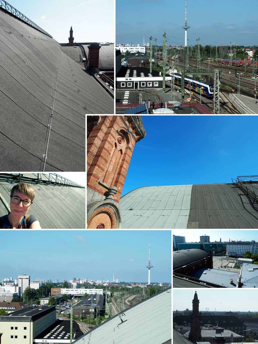 Aufs Dach gestiegen - in der Ferne sind Hafen, Weserstadion und Fernsehturm zu erkennen