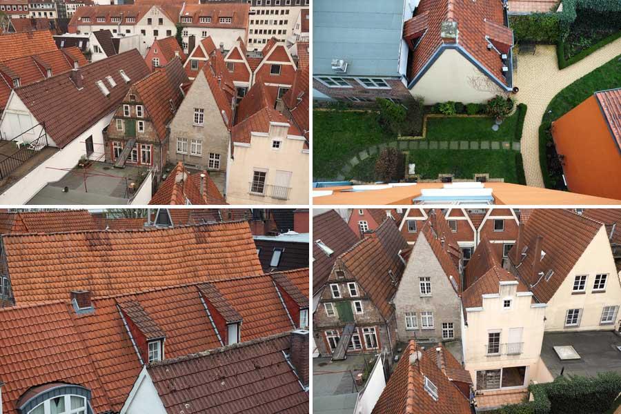 Ungewöhnliche Perspektive: In den Genuss des Blicks von der Dachterrasse vom Birgittenkloster kommen selbst Einheimische nicht unbedingt.