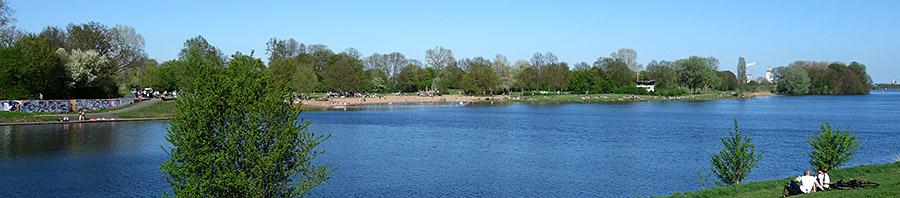 Badestrand am Werdersee, der Verlängerung der Kleinen Weser