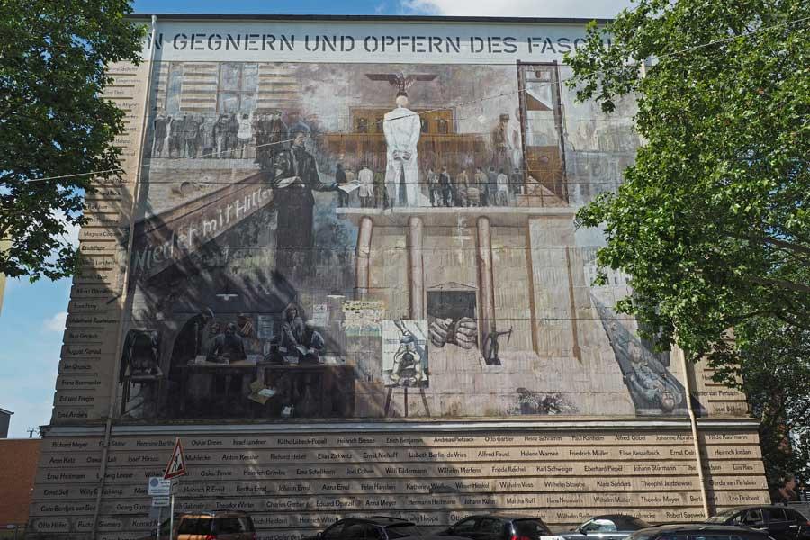 Das Bild am Bunker in der der Admiralstraße in Findorff ist in Gedenken an die Opfer und Gegner des Faschismus entstanden.