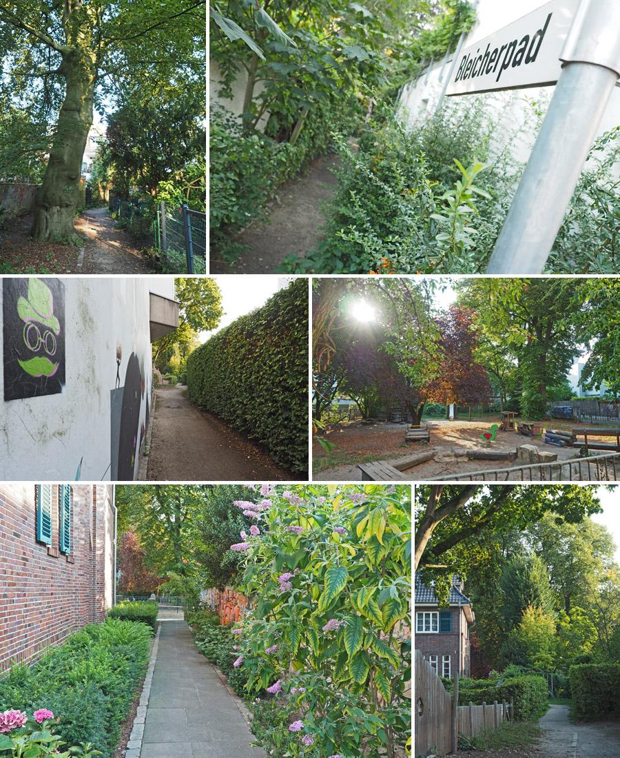 Bleicherpad, Milchpad, Klosterpad: Über Schleichwege (und historische Wirtschaftswege) lässt sich ein Blick in die Hintergärten werfen.
