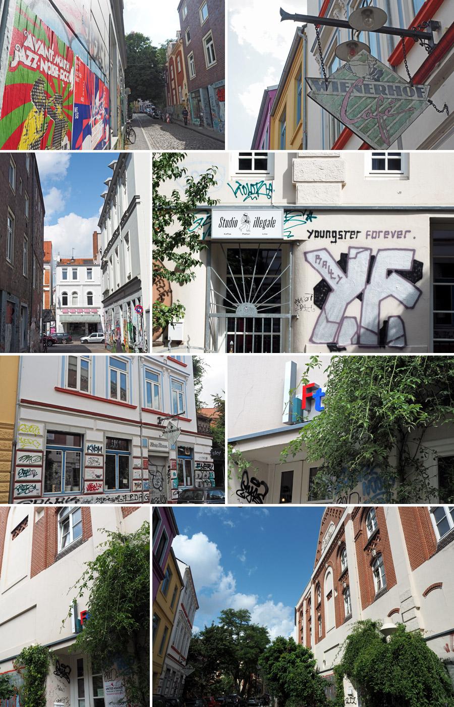 Stammkneipe, Internetcafé, Bar und Plattenladen: in der Weberstraße knäult sich Viertelkultur auf engstem Raum.