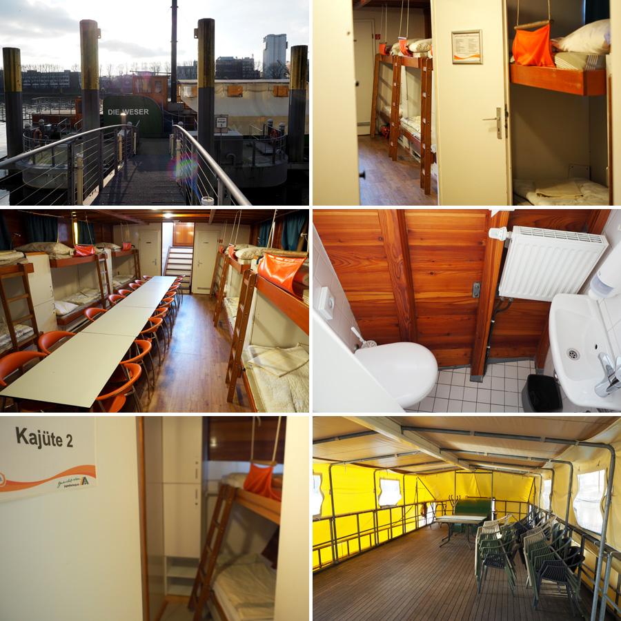 """Von innen größer als gedacht: Das Gästeschiff """"Die Weser"""" bietet Platz für 30 Schlafgäste und lässt sich pauschal anmieten."""