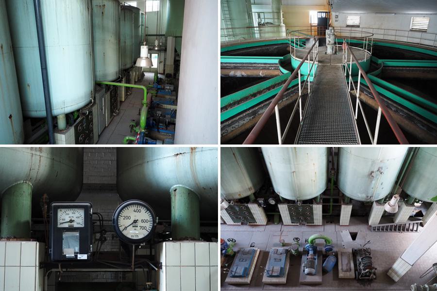 Neues Wort gelernt: Der Flokkulator (oben rechts) trug einen wichtigen Teil zu Wasserreinigung bei.