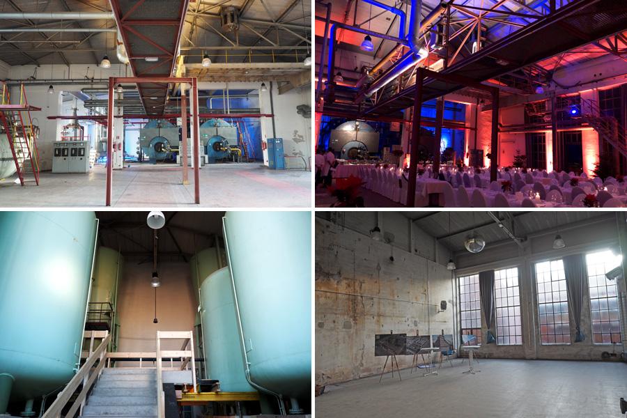 Die Räumlichkeiten im alten Heizwerk strömen eine ordentliche Portion industrielle Atmosphäre und Geschichte aus.