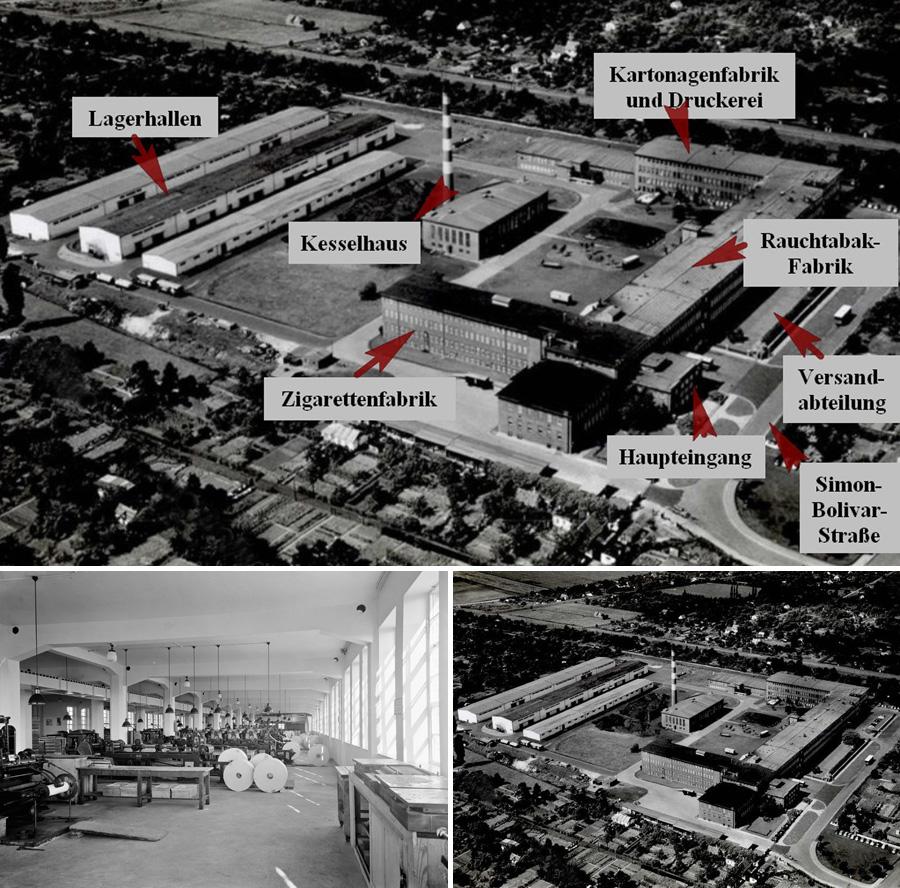 Blick in historische Zeiten: Die Lagerhallen sowie die u-förmig angelegten Hauptgebäude und das Heizwerk bleiben bestehen.